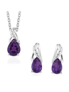 Jewelry & Watches Fiery Heart Of The Unicorn Adjustable Simulated Mineral Necklace And Earrings