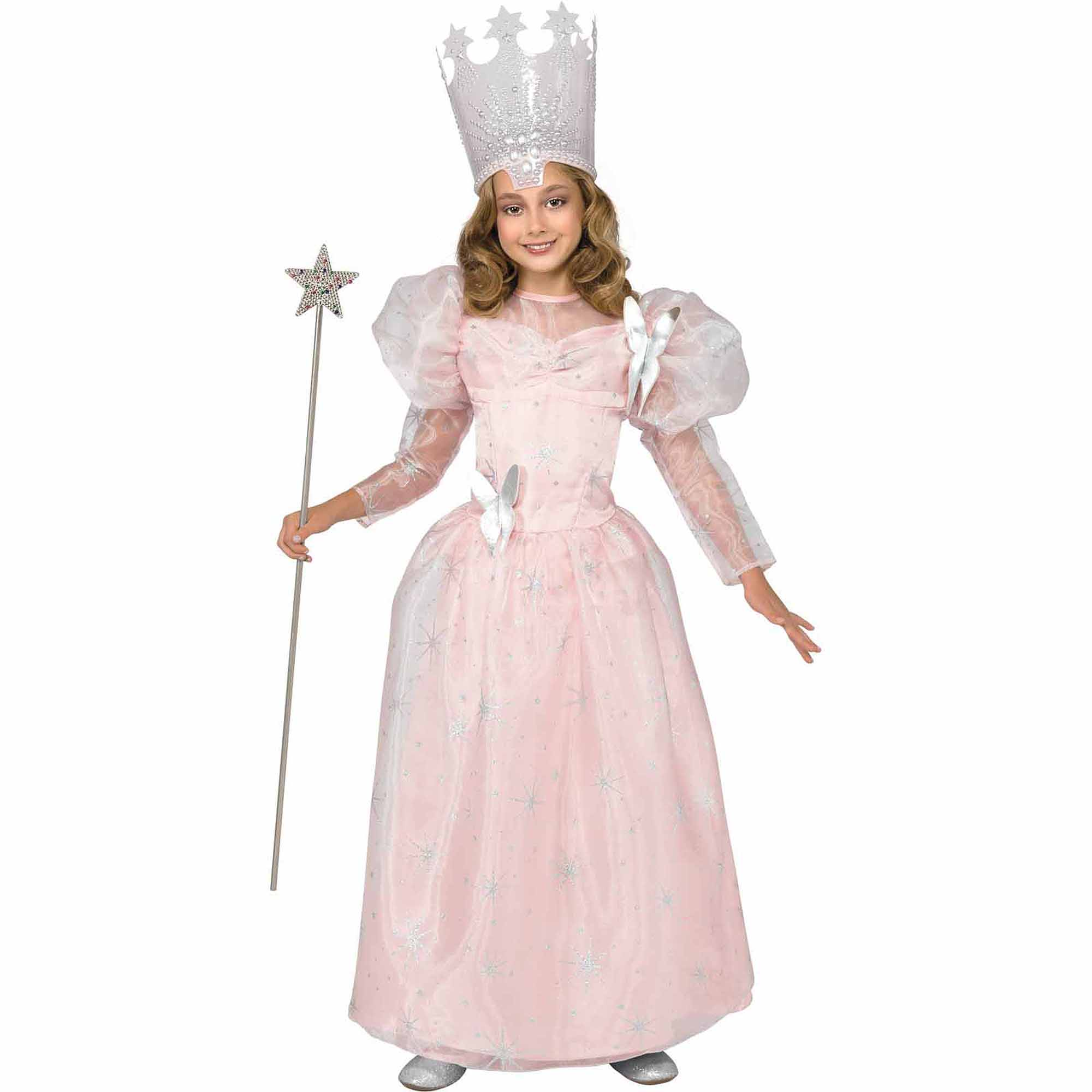 Wizard of Oz  Glinda  The Good Witch Deluxe Child Halloween Costume - Walmart.com  sc 1 st  Walmart : halloween girls costume  - Germanpascual.Com