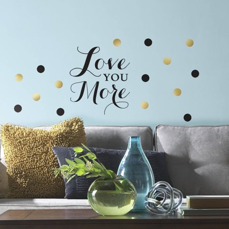 Roommates Decor Love You More Quote L And Stick Wall Decals