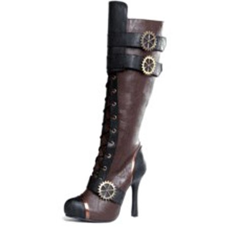 Avenue Boot (420-QUINLEY, 4'' Knee High Steampunk Boot )