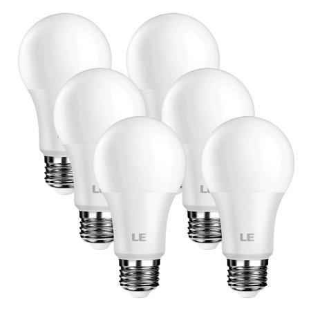Lighting EVER Dimmable 8.5W A19 LED Light Bulbs 60W Equal 800 Lumens 5000K Bulb Lamp 6 Pack