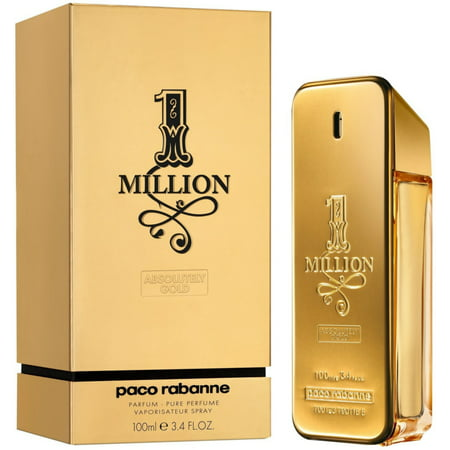 Paco Rabbane One Million Pure Parfum Spray for Men 3.4 oz