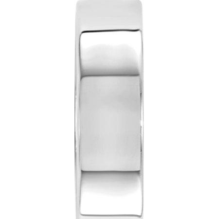 USA - 14k White Gold 6mm LTW Flat Band Size 12 - image 2 de 3