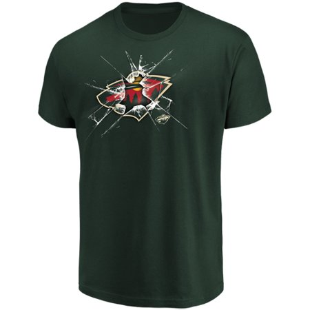 Minnesota Wild T-shirt (Men's Majestic Green Minnesota Wild Poke Check T-Shirt )