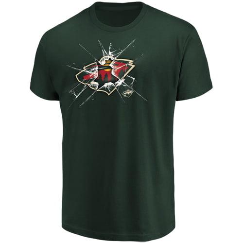 Men's Majestic Green Minnesota Wild Poke Check T-Shirt