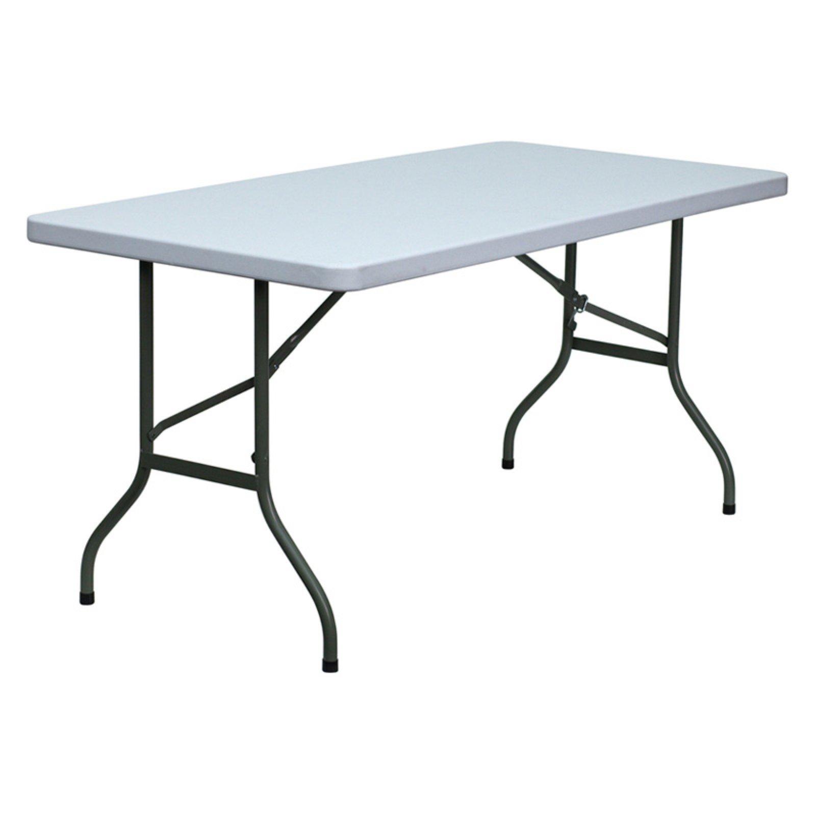 Flash Furniture 30''W x 72''L Granite White Plastic Folding Table