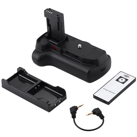 Powerextra Digital Camera Battery Grip For Canon 1100D 1200D 1300D /Rebel T3/T5/T6 With Infrared Remote Control Work with 2 Pcs LP-E10 or 6 AA-size batteries (New Battery Grip)