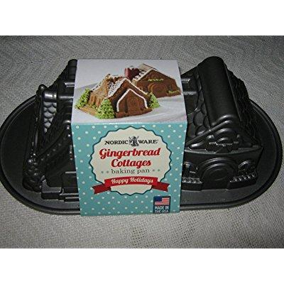 nordic ware gingerbread cottages baking pan
