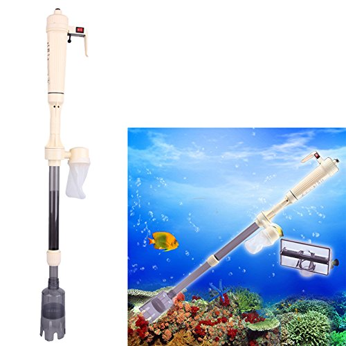 Electric Aquarium Gravel Cleaner Battery Electric Powered Fish Tank Washer Siphon Vacuum Water Changer Pump Filter (Battery Not included)