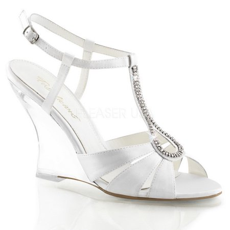T Lovely Sandal Wedge Sling 4 Strap Wht 420 Fabulicious Back qtUBU