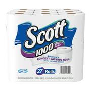 Scott 1000 Toilet Paper, 27 Rolls, 27,000 Sheets