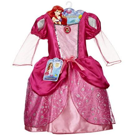 Disney Princess Ariel Pink Ball Gown/Fin Dress - Walmart.com