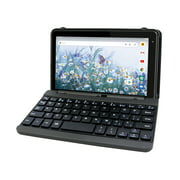 """RCA Voyager Pro+ 7"""" Touchscreen Android 10 Go Tablet with Keyboard Case, 2GB RAM 16GB Storage, Front-Facing Camera, Black"""