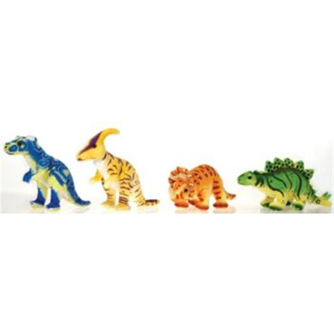 Bulk Savings 373526 11.5   4 Assorted Bean Bag Dinosaurs- Case of 36