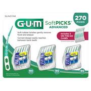 GUM Soft Picks Advanced, 270-count Soft, Flexible Bristles