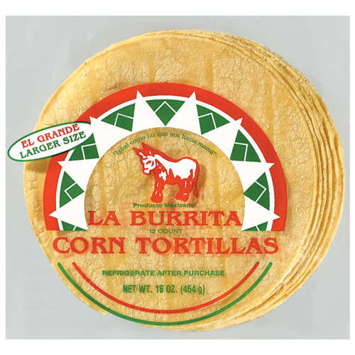 La Burrita Corn Tortillas, 12 ct
