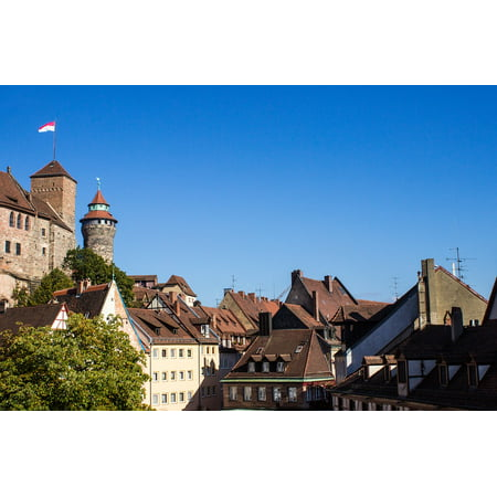 Imperial Tower (Canvas Print Truss Imperial Castle Castle Tower Nuremberg Stretched Canvas 10 x)