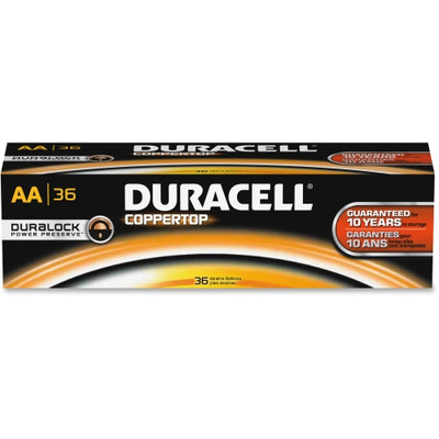 Duracell CopperTop Alkaline AA Batteries DURAACTBULK36