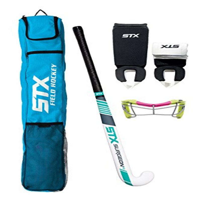 STX Field Hockey Rookie Starter Pack, Electric Lime Pink by