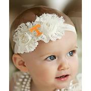 Tennessee Volunteers Baby/ Toddler Shabby Flower Hair Bow Headband