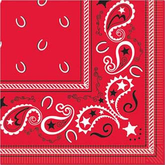 Western Luncheon Napkins (16 Pack) - Party Supplies - Western Themed Parties