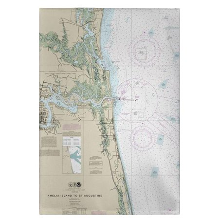 Betsy Drake GT11488JB 20 x 20 in. Jacksonville, FL Nautical Map Guest Towel - Halloween Jacksonville Beach Fl
