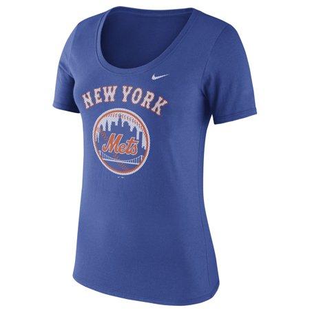 New York Mets Nike Women's Core T-Shirt - - Nike Girls Core