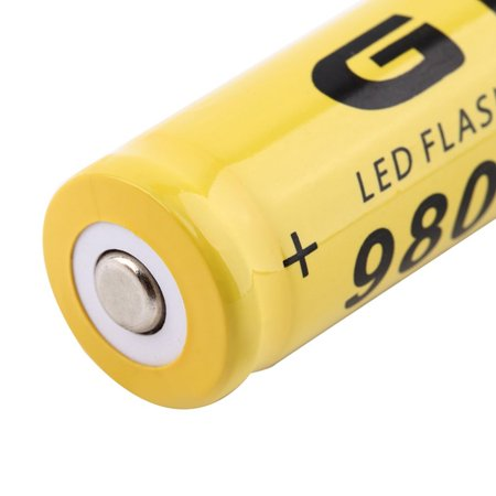 3.7V 18650 9800mah Li-ion Rechargeable Battery For LED Flashlight Torch/electronic gadgets 65x17mm - image 3 de 5