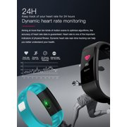IMAGE Color Screen Bluetooth Fitness Tracker Heart Rate Monitor Sleep Step  Counter Smart Wristband for Women Men & Kids