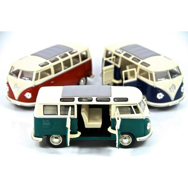 "3PC SET: 7"" Kinsmart 1962 VW Volkswagen Bus Diecast Model"
