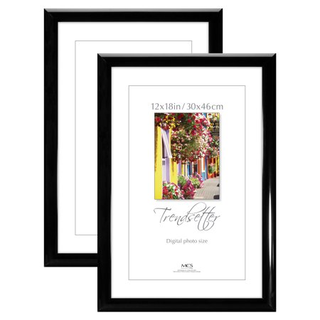 Measures Approximately 2 1/2 Inches (12x18 Trendsetter Poster and Picture Frame, Black, Set of)