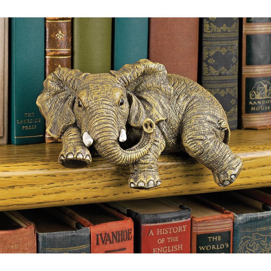 Ernie the Elephant Shelf Sitter Sculpture by Design Toscano