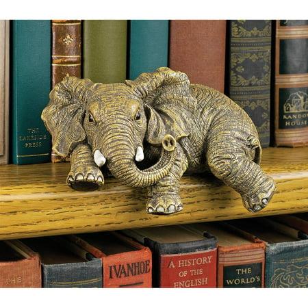Spoon Sculpture - Design Toscano Ernie the Elephant Shelf Sitter Sculpture