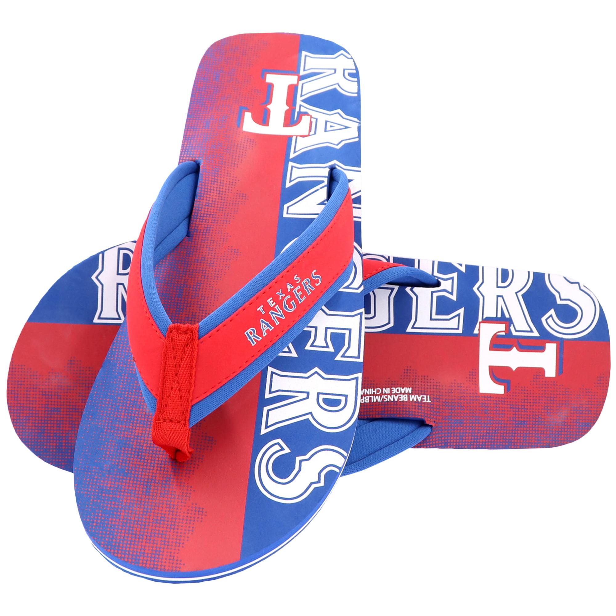 Texas Rangers Contour Fade Wordmark Flip Flops