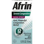 Afrin Severe Congestion 12 Hour Nasal Decongestant Spray - 15 mL
