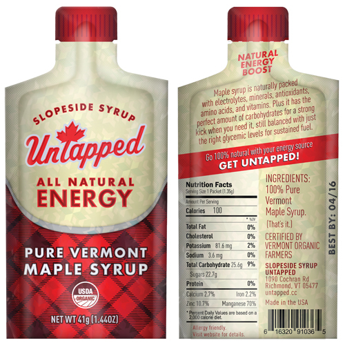 UNTAPPED 345412 UNTAPPED UNTAPPED MAPLE SYRUP 20/BOX