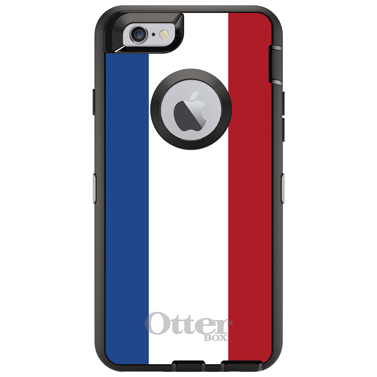 "CUSTOM Black OtterBox Defender Series Case for Apple iPhone 6 / 6S (4.7"" Screen) - Holland Flag"