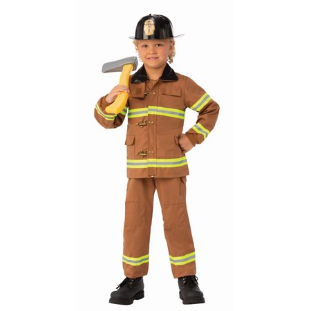 Child Junior Fireman Costume](Kid Bear Costume)
