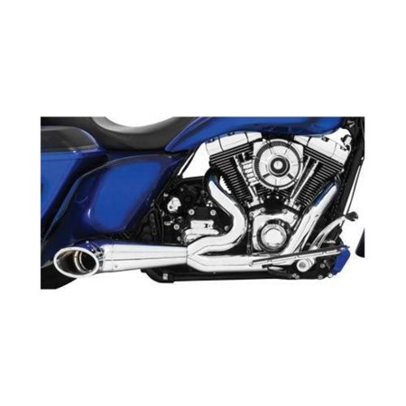 Freedom Performance HD00635 2-Into-1 Turnout Exhaust System - Chrome with  Chrome Tip