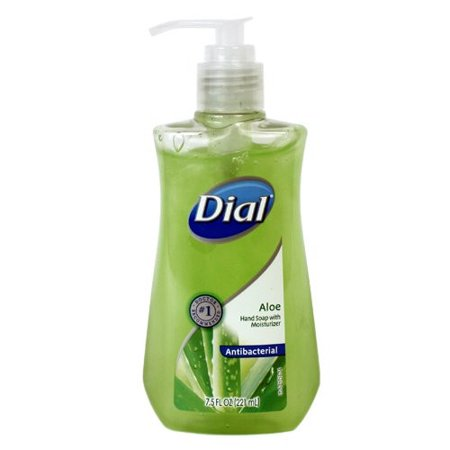 Dial Liquid Antibacterial Liquid Hand Soap, Moisturizing Aloe, Pump, 7.5 oz (Moisturising Antibacterial)