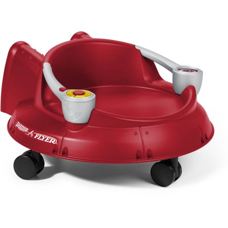 Radio Flyer Spin N Saucer Ride On With Lights And Sounds