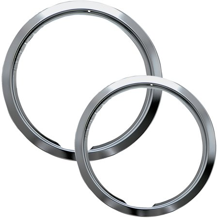 Electric Range Trim Ring - Range Kleen 2-Piece Trim Ring, Style E fits Hinged Electric Ranges Amana/Frigidaire/Maytag/Whirlpool, Chrome