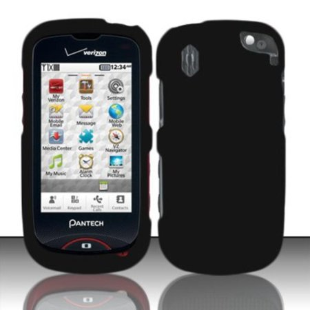 Rubberized Snap-On Hard Skin Protector Case Cover for For (Verizon) Pantech Hotshot 8992 - Black, Brand New Generic Product. ** Color may differ ** By Importer520,USA