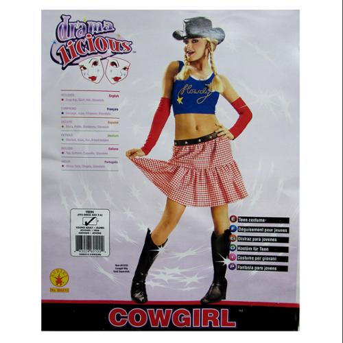 Rubie's Womens 'Cowgirl' Halloween Costume, Red/Blue, S