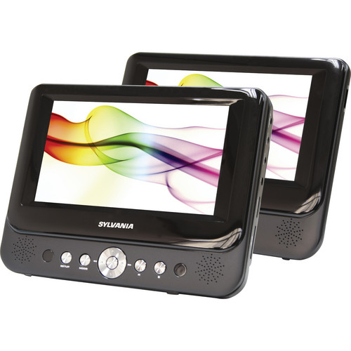"Sylvania SDVD8737 7"" Dual Screen Portable DVD Player ( Certified refurbished )"
