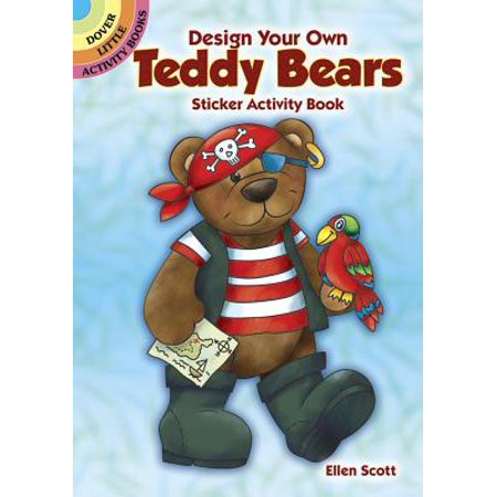 Design Your Own Teddy Bears Sticker Activity Book - Halloween Teddy Bear Coloring Pages