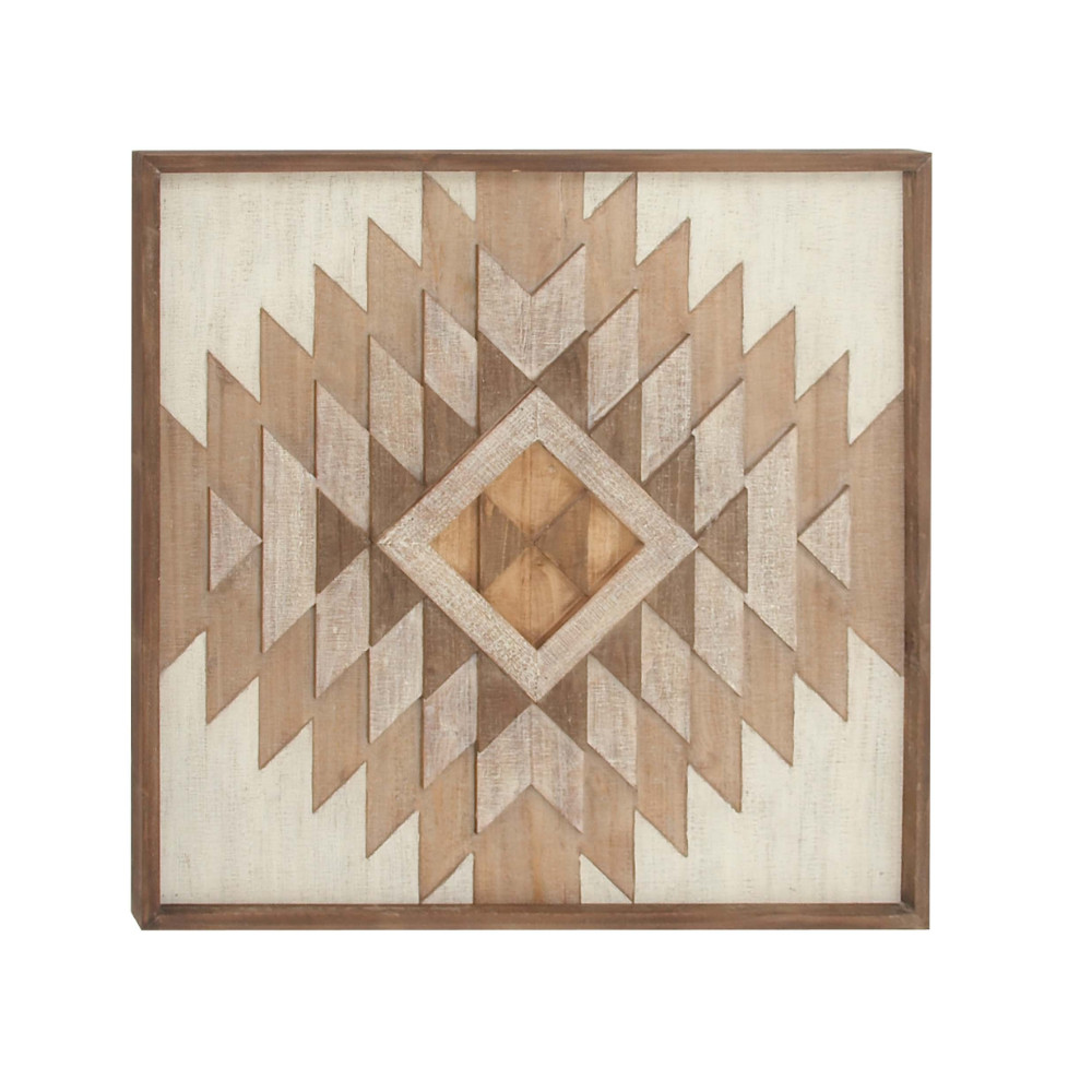 Cosmic Square Shaped Wall Plaque by Benzara