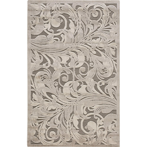 Nourison Graphic Illusions Carved Polyacrylic Floral Rug