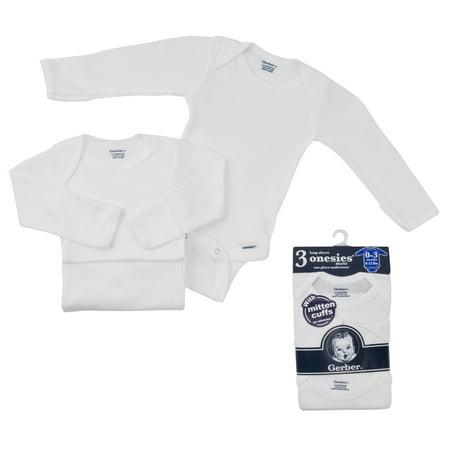 a15aebdaddcd Onesies Brand - Gerber Newborn Baby Unisex Long Sleeve Bodysuit