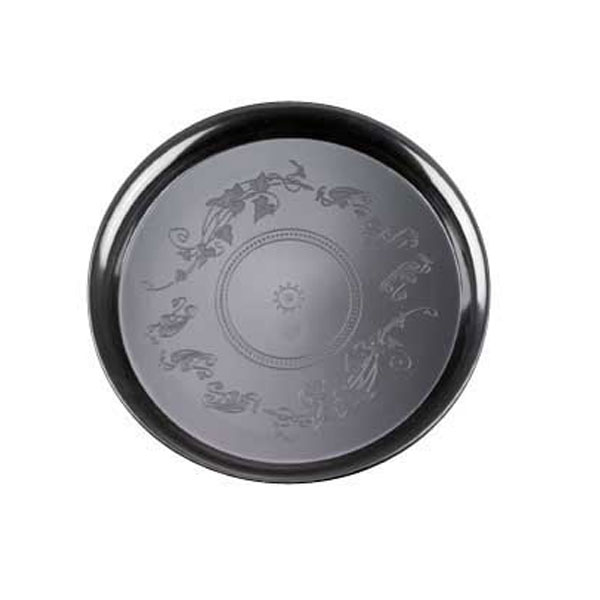 Black 12 Inch Plastic Delimate Trays/Set of 25